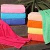 Однотонное махровое полотенце
